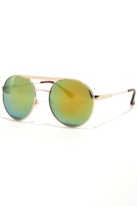 Mirror Mirror Yellow Aviator Sunglasses at Lulus.com!