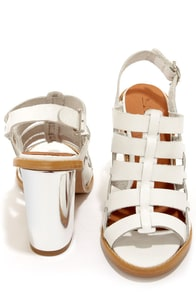 Sixtyseven 75936 Larissa Vachetta White High Heel Sandals at Lulus.com!