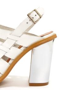 Sixtyseven 75936 Larissa Vachetta White High Heel Sandals