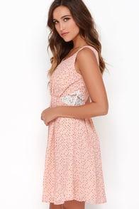 Dolomita Peach Polka Dot Dress at Lulus.com!