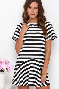 The Fifth Label Double the Love Ivory and Black Striped Dress at Lulus.com!