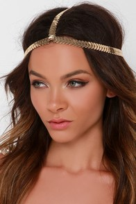 Laurel Treatment Gold Headpiece at Lulus.com!