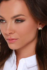 Cute Angles Silver and Gold Earrings at Lulus.com!