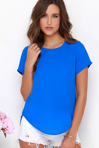Road to You Blue Top at Lulus.com!