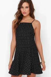 The Fifth Label Play It Right Black Print Dress at Lulus.com!
