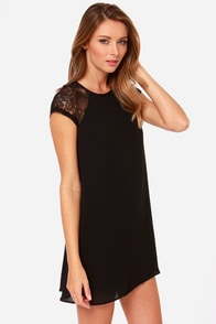 True Romance Black Lace Dress at Lulus.com!