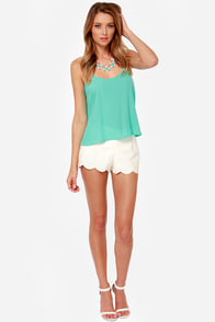 Lucy Love Solid Capri Aqua Tank Top at Lulus.com!