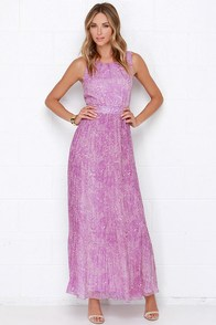 Darling Nicole Purple Maxi Dress at Lulus.com!