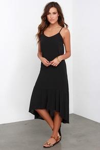 Perfect Day Black Midi Dress at Lulus.com!