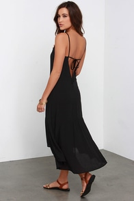 Perfect Day Black Midi Dress at Lulus.com!