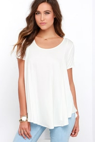Every Open Door Ivory High-Low Swing Top at Lulus.com!