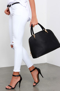 Reporting for Duty Black Handbag at Lulus.com!