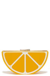 Pucker Up Yellow Lemon Clutch