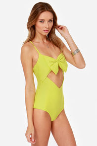 Lolli Cake Walk Chartreuse One Piece Swimsuit at Lulus.com!