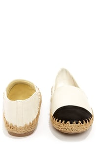 Dollhouse Preserve Beige and Black Flats at Lulus.com!