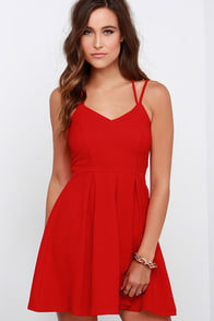 To the Rescue Red Dress at Lulus.com!
