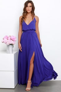 Rippling Reflection Indigo Maxi Dress at Lulus.com!