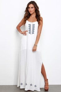 Gentle Fawn Maui Ivory Embroidered Maxi Dress at Lulus.com!