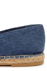 Bamboo Saturday 08 Blue Denim Espadrille Flats at Lulus.com!