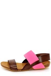 MTNG 93119 Annie Vachetta Moka and Fuchsia Sandals at Lulus.com!