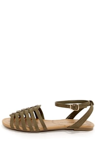 City Classified Nista Khaki Sandals