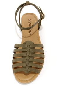 City Classified Nista Khaki Sandals at Lulus.com!