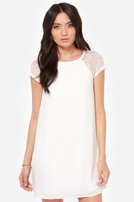 True Romance Ivory Lace Dress at Lulus.com!
