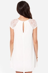 True Romance Ivory Lace Dress at Lulus.com!