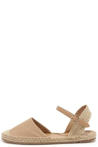 Sand Dollar Natural Espadrille Sandals at Lulus.com!