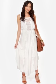 Lace in the Sun Ivory Maxi Dress at Lulus.com!