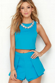 At Daybreak Blue Two-Piece Set at Lulus.com!