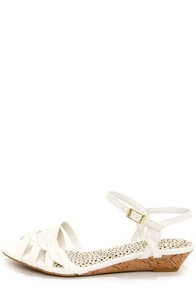 Bamboo Juniper 91 White Sandals