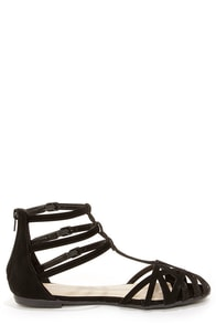 Bamboo Lynna 80 Black Suede Sandals at Lulus.com!