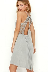 O'Neill Blossom Grey Lace Dress at Lulus.com!