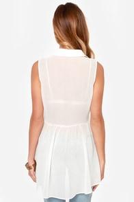 Black Swan Romance Sheer Ivory Top at Lulus.com!