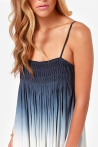 Black Swan Ora Navy Blue Ombre Babydoll Dress at Lulus.com!