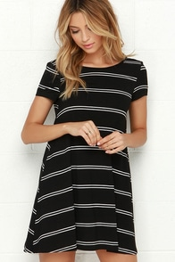 Stand in Sunlight Black Striped Dress at Lulus.com!