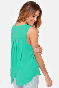 Mer-Maiden Teal Top at Lulus.com!