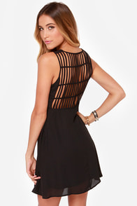 LULUS Exclusive Kiss-Krossed Black Dress at Lulus.com!