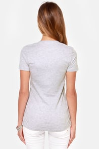 Dot Palm Grey Tee at Lulus.com!