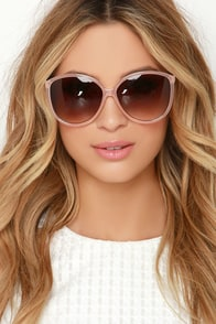 See What I Mean Light Pink Sunglasses at Lulus.com!