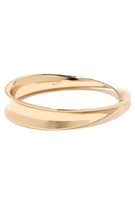 Ellipse of the Heart Gold Bracelet at Lulus.com!