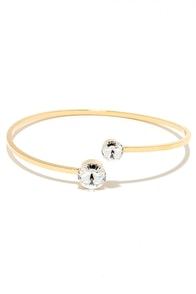 Meet You There Gold Rhinestone Bracelet at Lulus.com!
