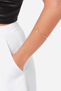 Let's Tie the Knot Gold Bracelet at Lulus.com!