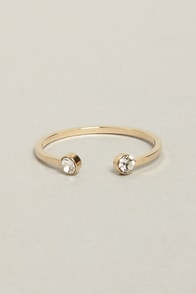 Shine to Five Gold Rhinestone Ring at Lulus.com!