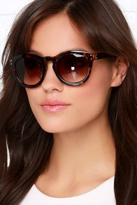 Sunshine on My Mind Tortoise Sunglasses at Lulus.com!