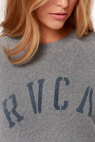 RVCA Department RVCA Grey Sweater at Lulus.com!