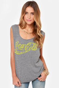 Chaser Cola Grey Muscle Tee at Lulus.com!
