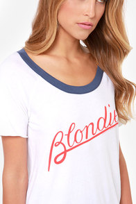 Chaser Blondie Ivory Tee at Lulus.com!