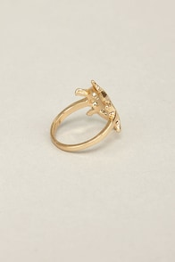 Sea You Later Gold Knuckle Ring at Lulus.com!